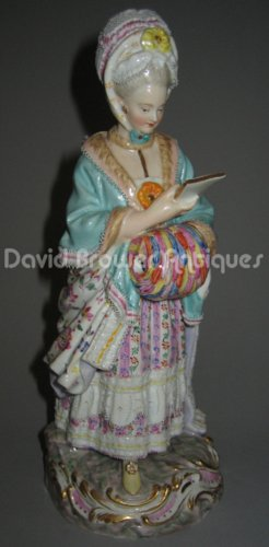 Meissen figure entitled The Racegoers Companion