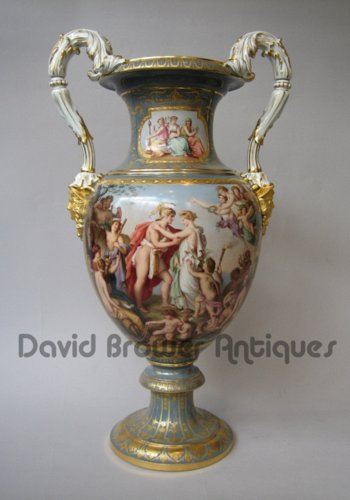A Meissen Vase both rare & beautifully decorated