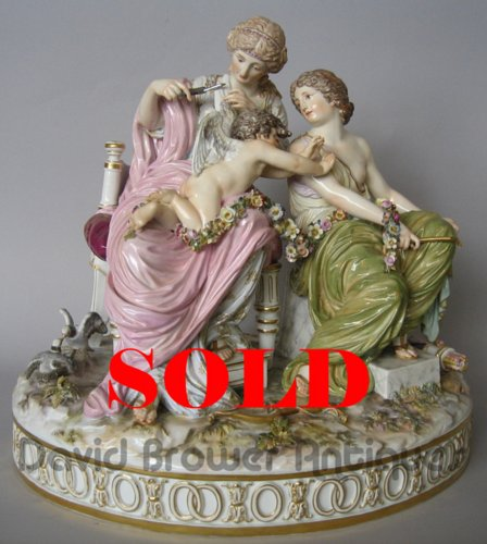 A large Meissen group entitled