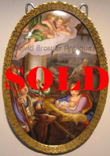 A finely painted Meissen plaque