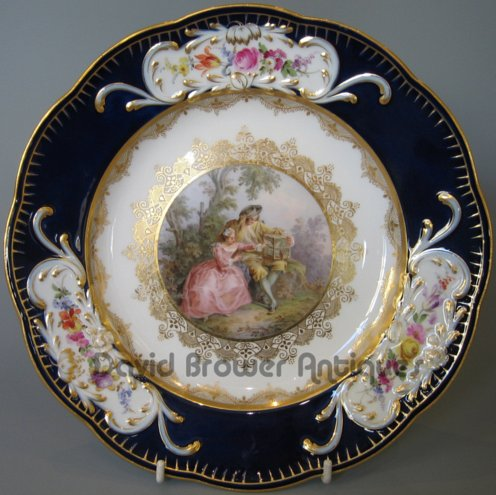 A very fine SET OF 6 Meissen plates
