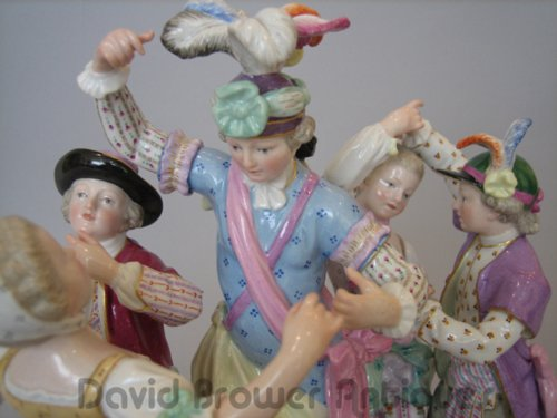 Meissen group of the dance lesson
