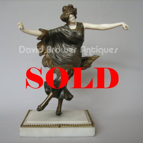 A French bronze and Ivory figure of a Spanish dancer